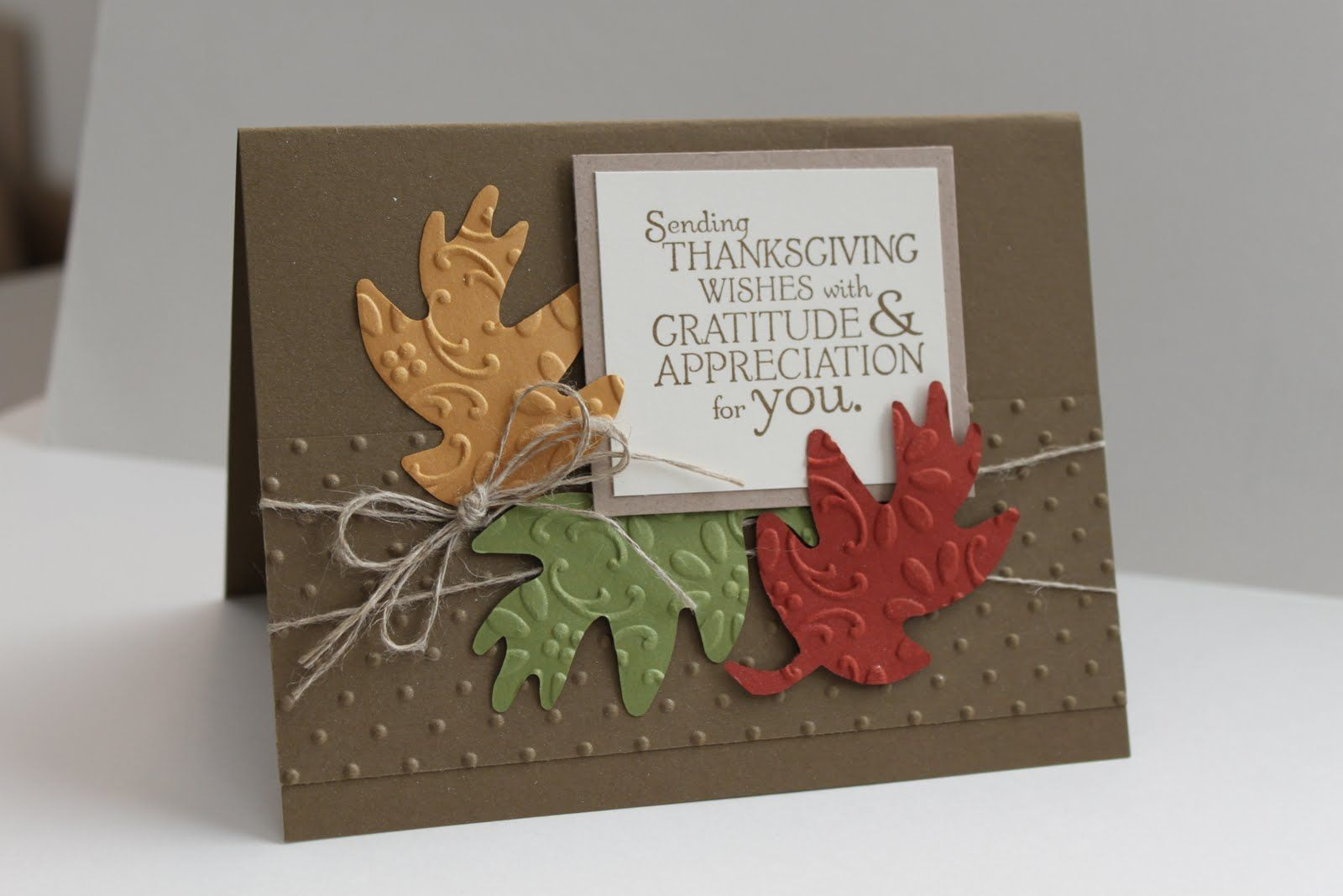 Cute Handmade Thanksgiving Cards