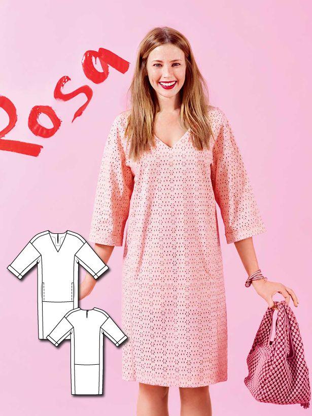 V-Neck Lace Dress 02/2016 #106B | Pinterest | Kleider nähen, Kleider ...