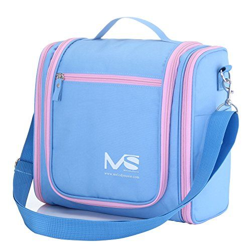 MelodySusie Hanging Toiletry Bag Travel Bag A Great Choice of Large  Waterproof Toiletry Bag for Outdoor Activities Macaron Blue -- Check out  the image by ... 143f0e39d1209