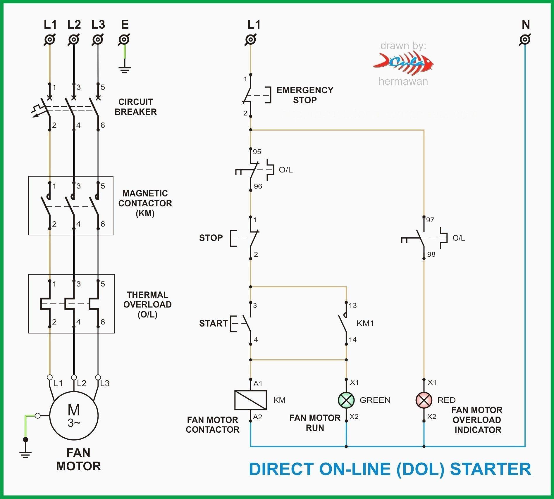 Contactor Wiring Diagram With Timer Diagrama De Circuito