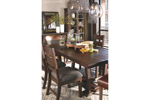 Medium Brown Zenfield Dining Room Table View 3