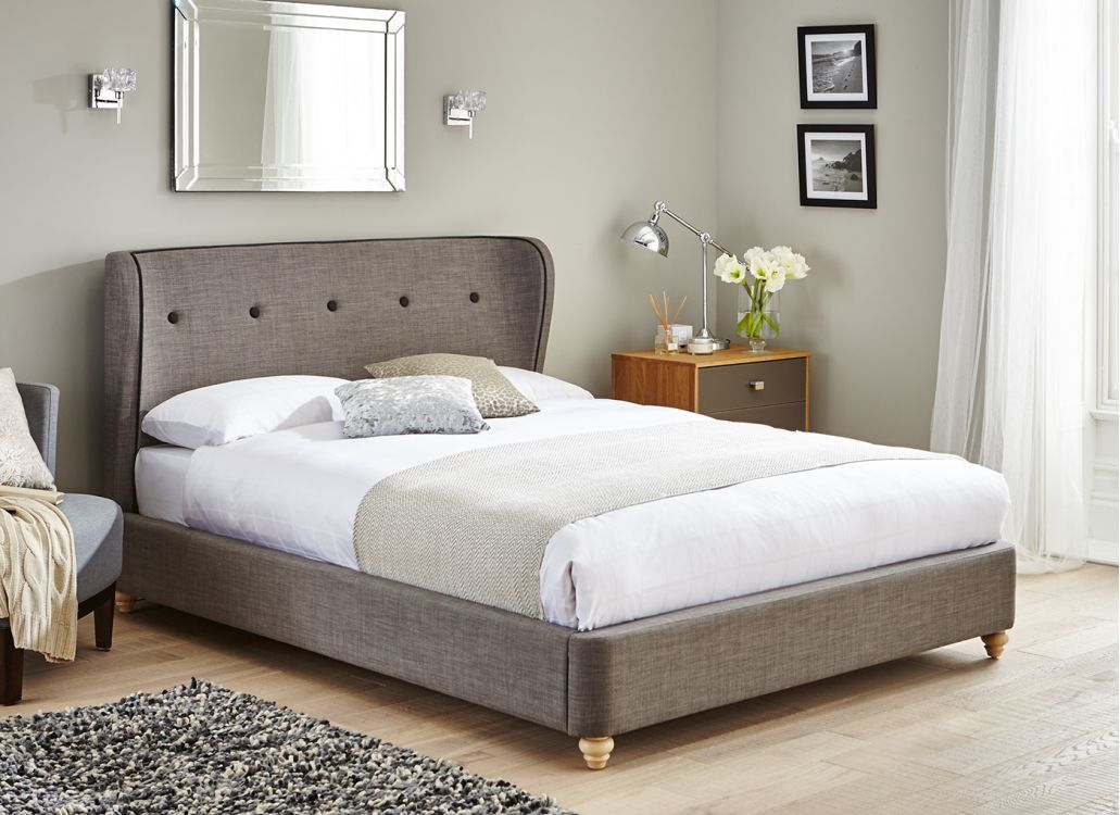 Enjoyable Cooper Charcoal Grey Fabric Bed Frame Ma Livin Bed Bed Camellatalisay Diy Chair Ideas Camellatalisaycom