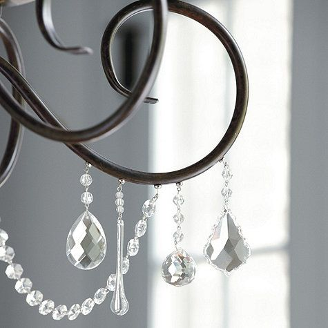 Hmm..could add crystals to the dining room chandelier. Set of 3 ...