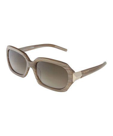Another great find on #zulily! Beige Stripe Sunglasses by Jil Sander #zulilyfinds