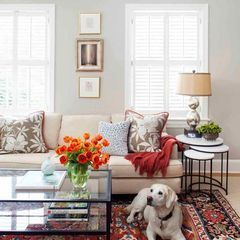 Beautiful glass topped coffee table!traditional living room by TerraCotta Properties