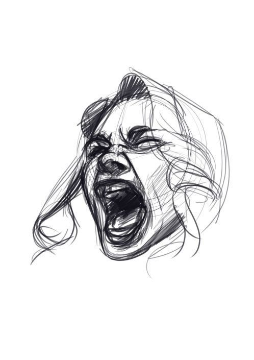 Photo of How to draw screaming faces tutorial from Javi Can Draw. Female Cha …