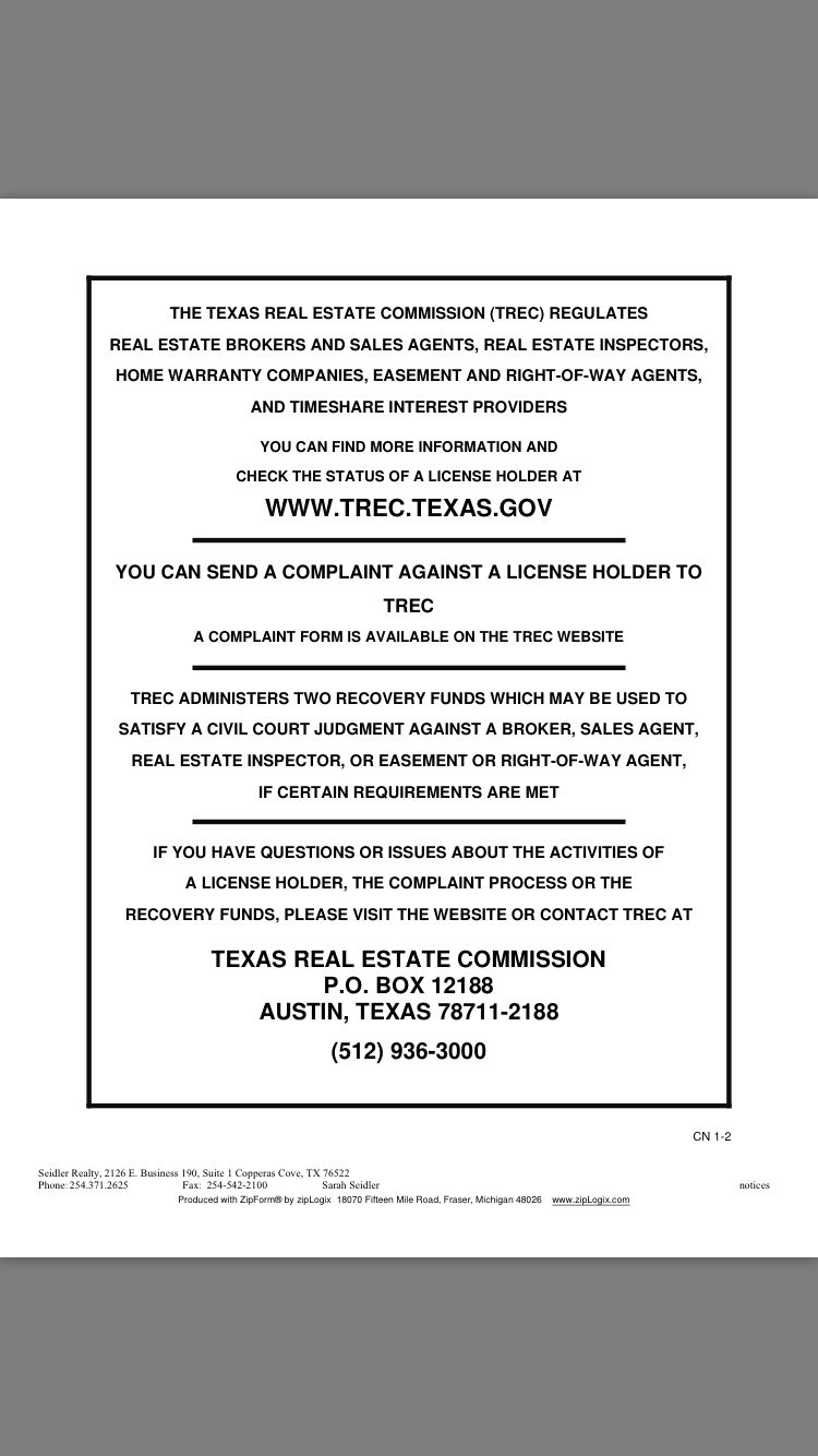 Texas Real Estate Commission Consumer Protection Notice Consumer Protection Texas Real Estate Home Warranty Companies