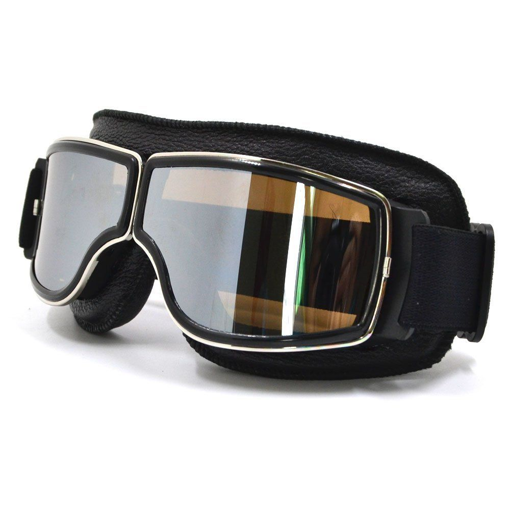 CRG Fashion Classic Goggles Black Frame + Silver Lens