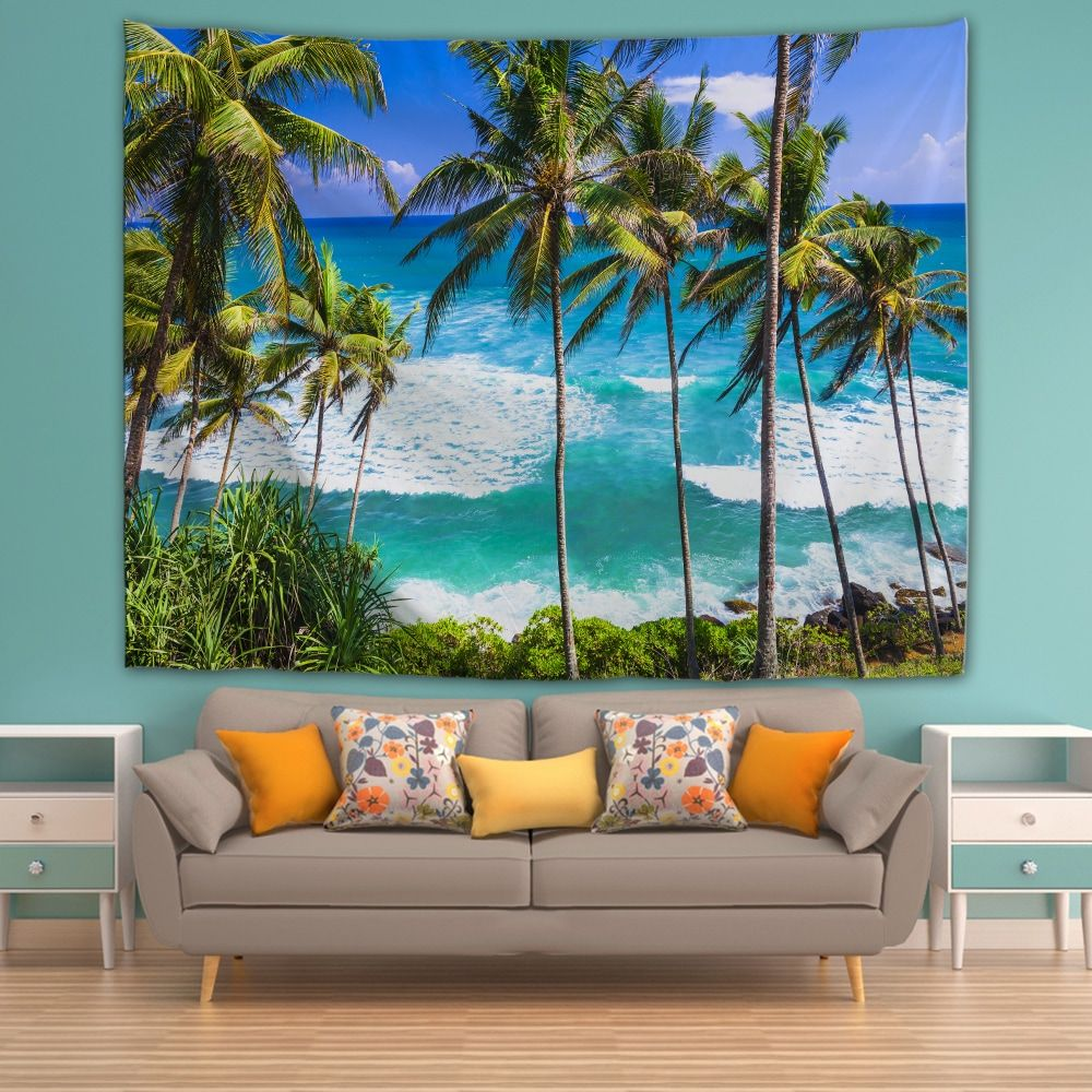 Sri Lanka Beach 3d Printing Home Wall Hanging Tapestry For