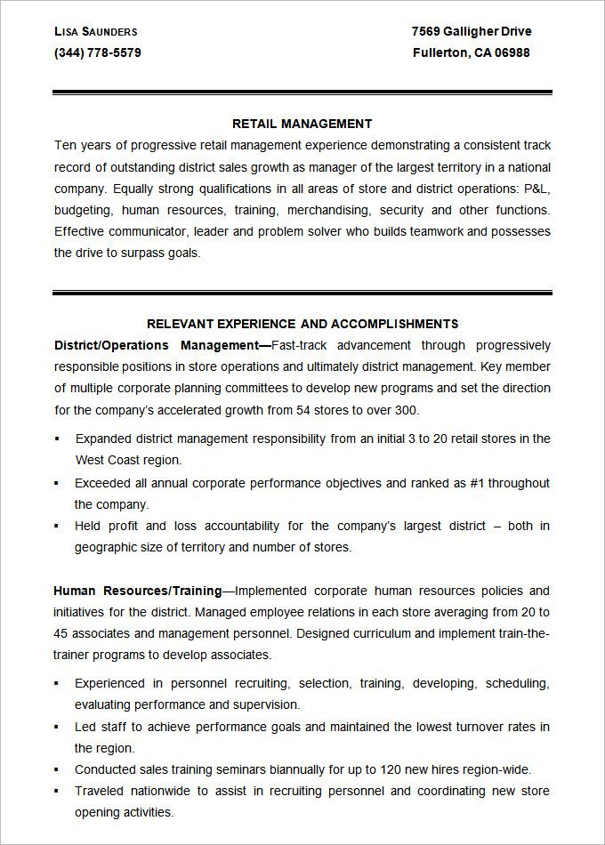 sample retail management resume template mac resume template personnel recruiter sample resume - Personnel Recruiter Sample Resume