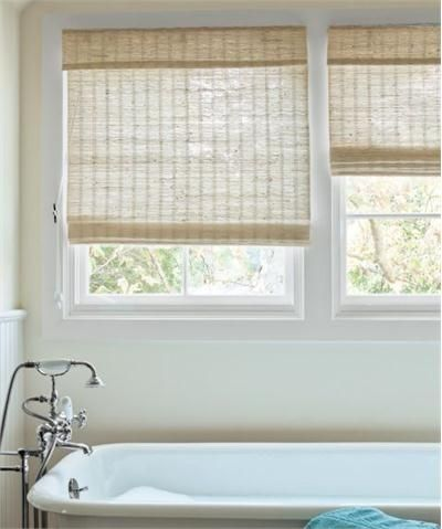 Transitional window shade from smith noble model for Natural woven flat fold shades