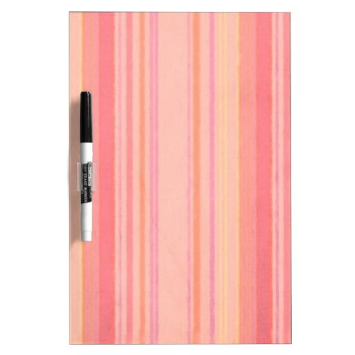 Retro Color Peach Lemon Stripes Dry-Erase Board from Zazzle.com