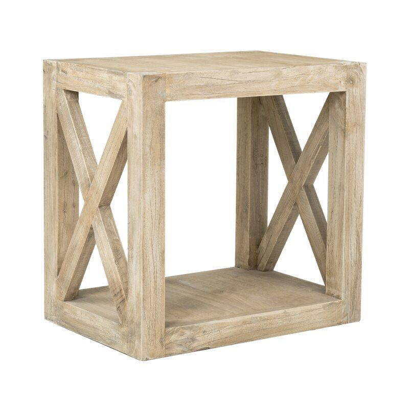 Wrightstown Solid Wood Block End Table Reviews Joss Main In 2020 Furniture Solid Wood Flooring End Tables