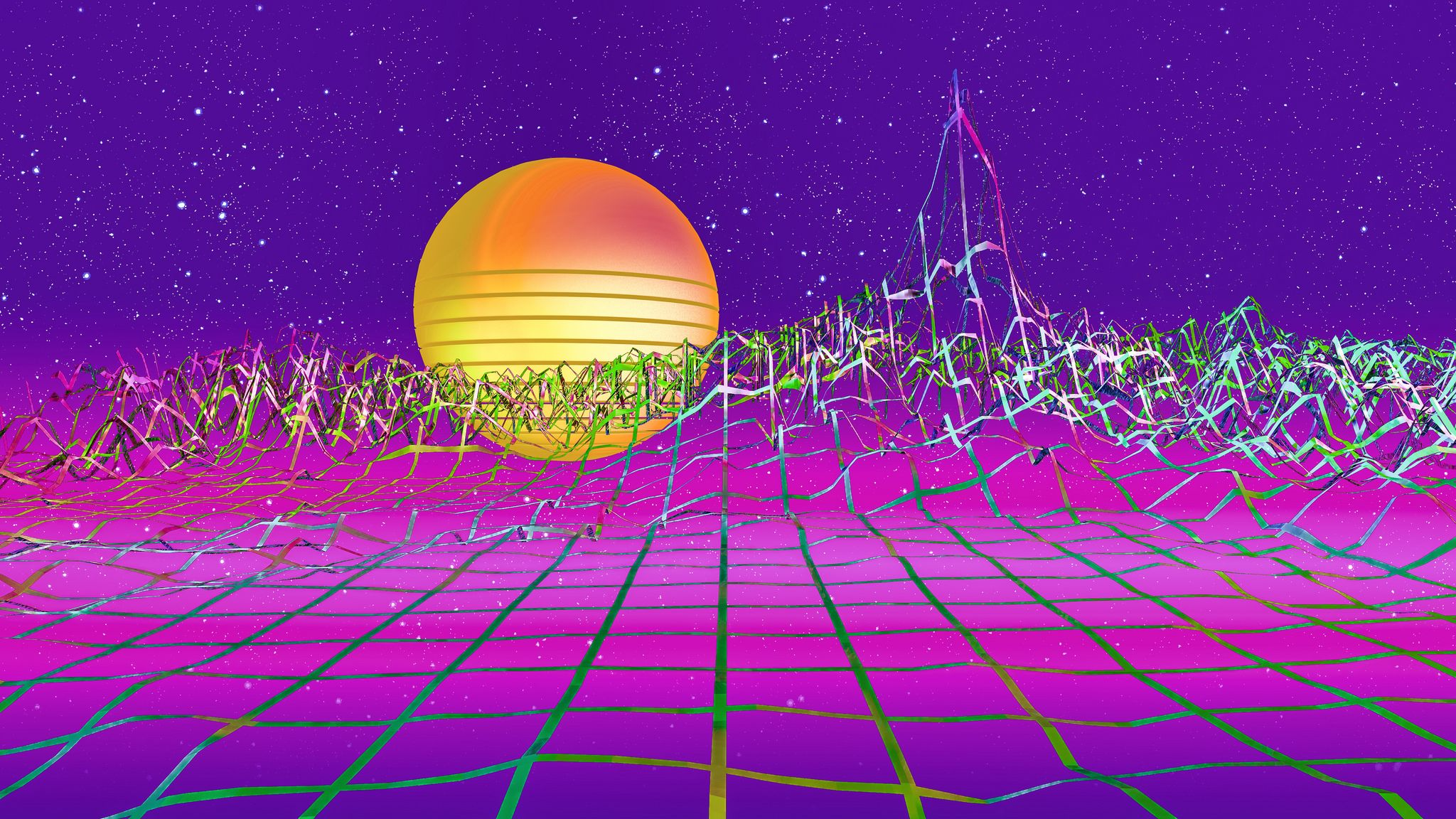 Vaporwavewp3print art pinterest vaporwave wallpaper - Space 80s wallpaper ...