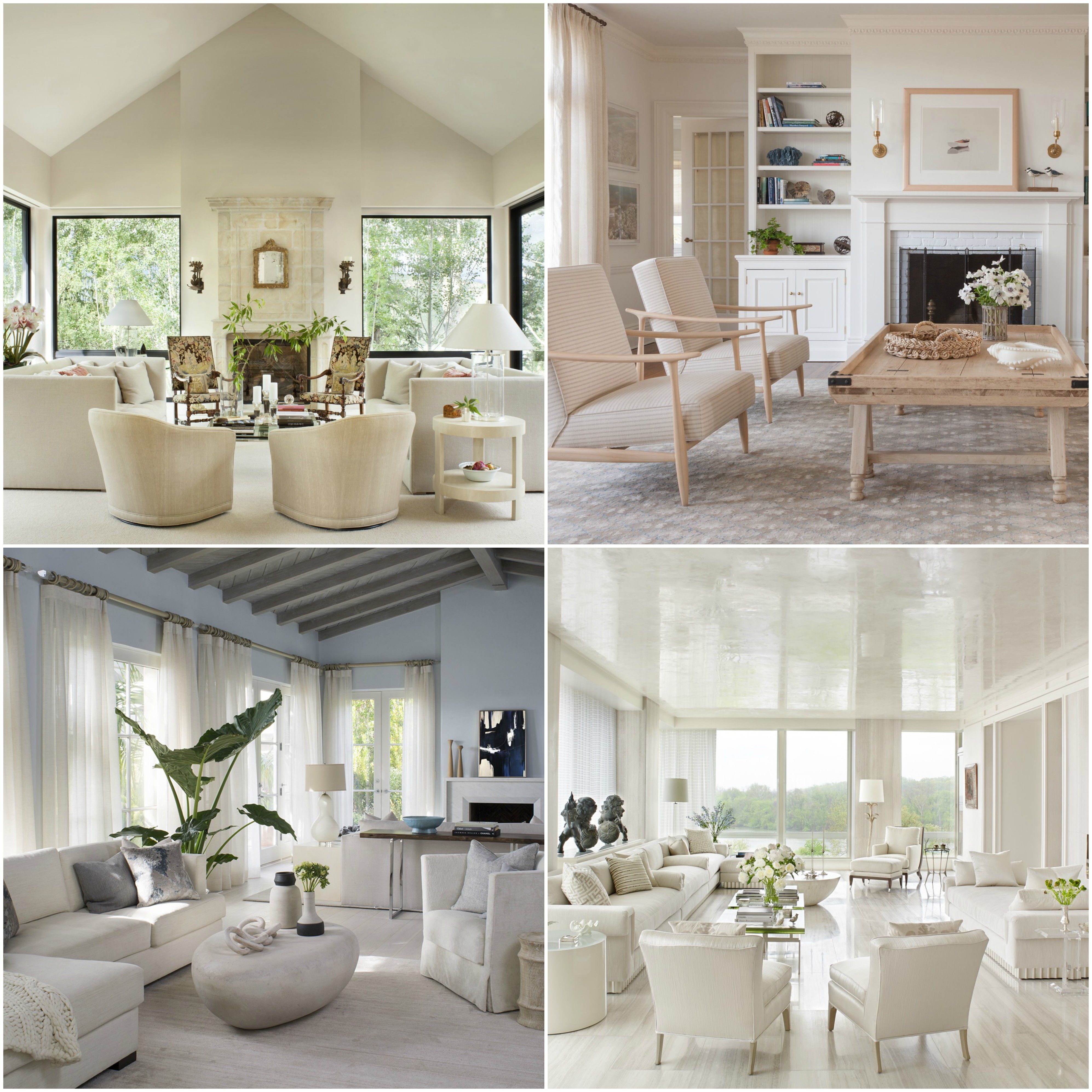 all white living rooms with layered textures bring a sense