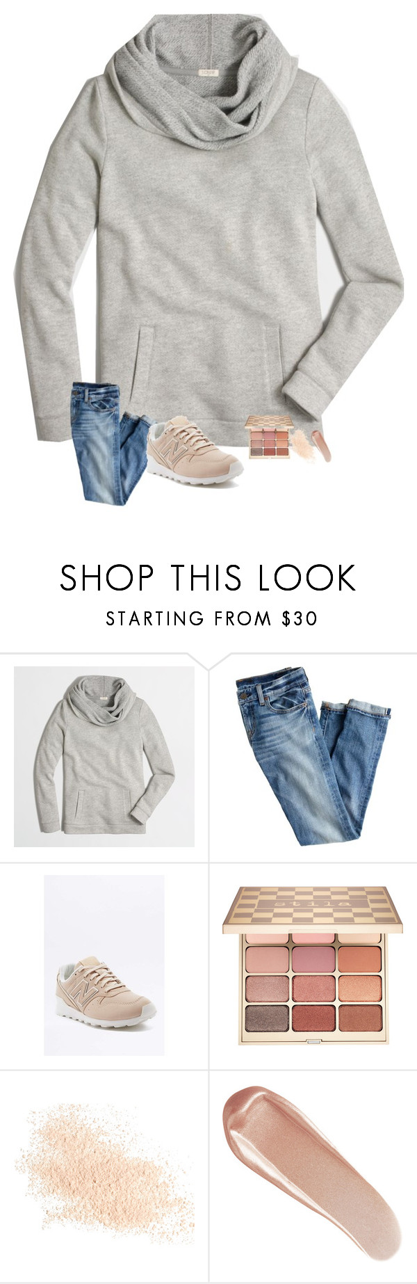 """""""watching the last episode of stranger things! & bachelor later tonight 🌹"""" by preppinessandpearls ❤ liked on Polyvore featuring J.Crew, New Balance, Stila, Eve Lom and NARS Cosmetics"""