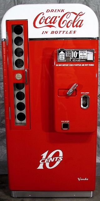 Antique Vendo 81 D 1950s Coca Cola Machine 10 Cents For A