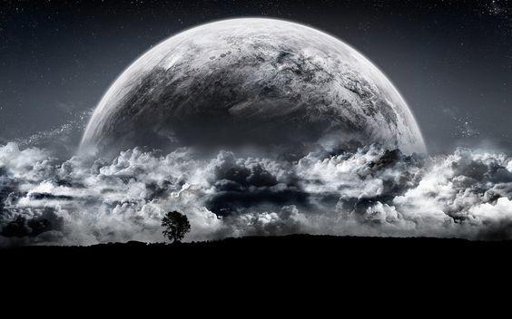 Fondos De Pantalla 3d Con Movimiento Gratis Para Pc Planets Wallpaper Beautiful Moon Dark Moon