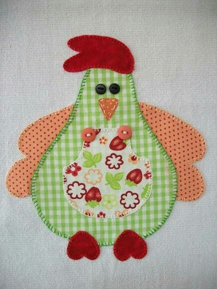 I see a mug rug chicken for my kitchen--db