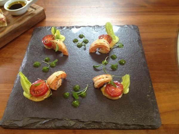 neven maguire de constructed prawn cocktail slated ireland food on slate - Slate Cafe Ideas