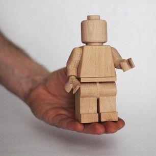 Ultramoderne Legomand i træ! | Wood Toys | Træarbejde projekter, Træ arbejde og SB-54