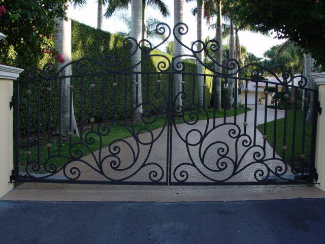 Aluminum Wrought Iron Driveway Gate Automatic Driveway