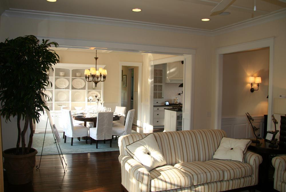 Breakfast nook open to family room open concept family Open dining room and kitchen designs