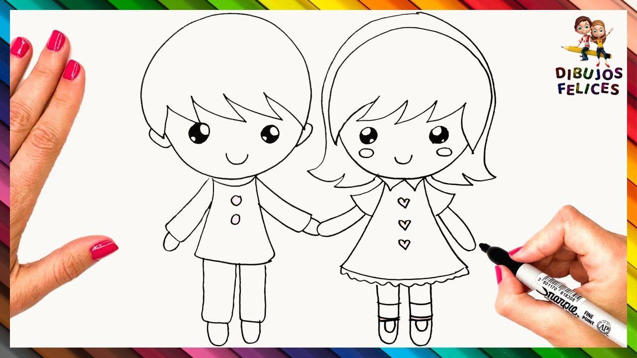 Cómo Dibujar Unos Niños Paso A Paso Dibujo Fácil De Niños Como Dibujar Niños Dibujos De Personas Faciles Dibujos De Profesiones