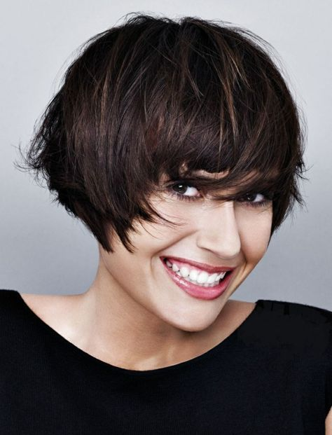Page cut with bangs short Bob Pagen hairstyle retro style naughty ...