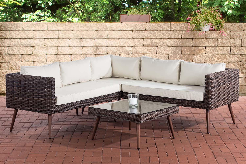 Eck Loungeset Molde Rundrattan Cremeweiss 40 Cm Dunkelbraun Braun Meliert In 2020 Gartenmobel Lounge Mobel Gartenmobel Sets
