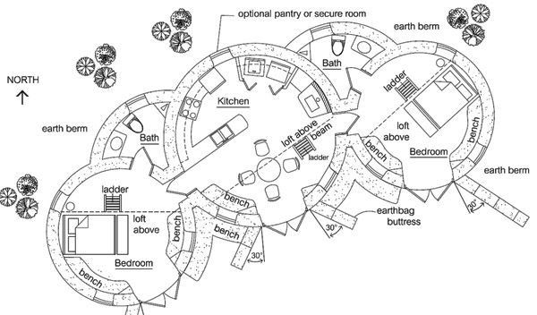 earthbag house plans. Earthbag Building: Enviro Dome 2 Plan House Plans L