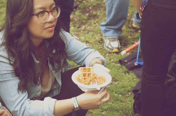 Summer Music Festival Food Buttered Chicken And Waffles