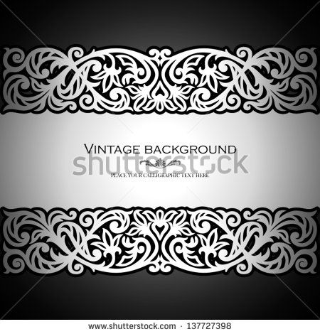 Abstract background, lace frame border pattern, wedding invitation - best of luxury invitation vector
