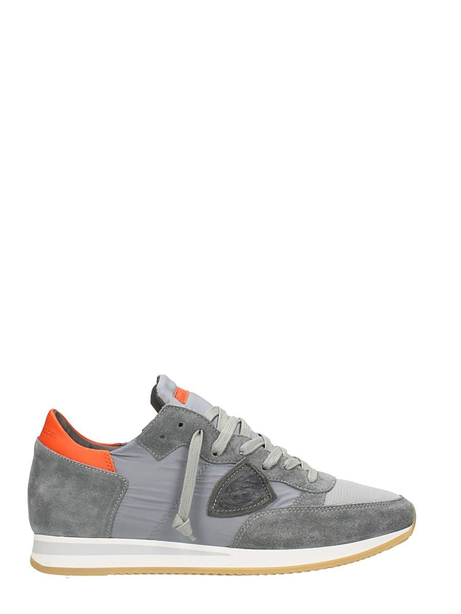 outlet recommend Philippe Model Men's Grey Suede... low cost cheap price 1DXOmYjL