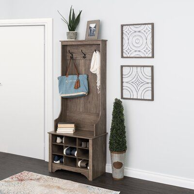 Hall Tree With Bench And Shoe Storage