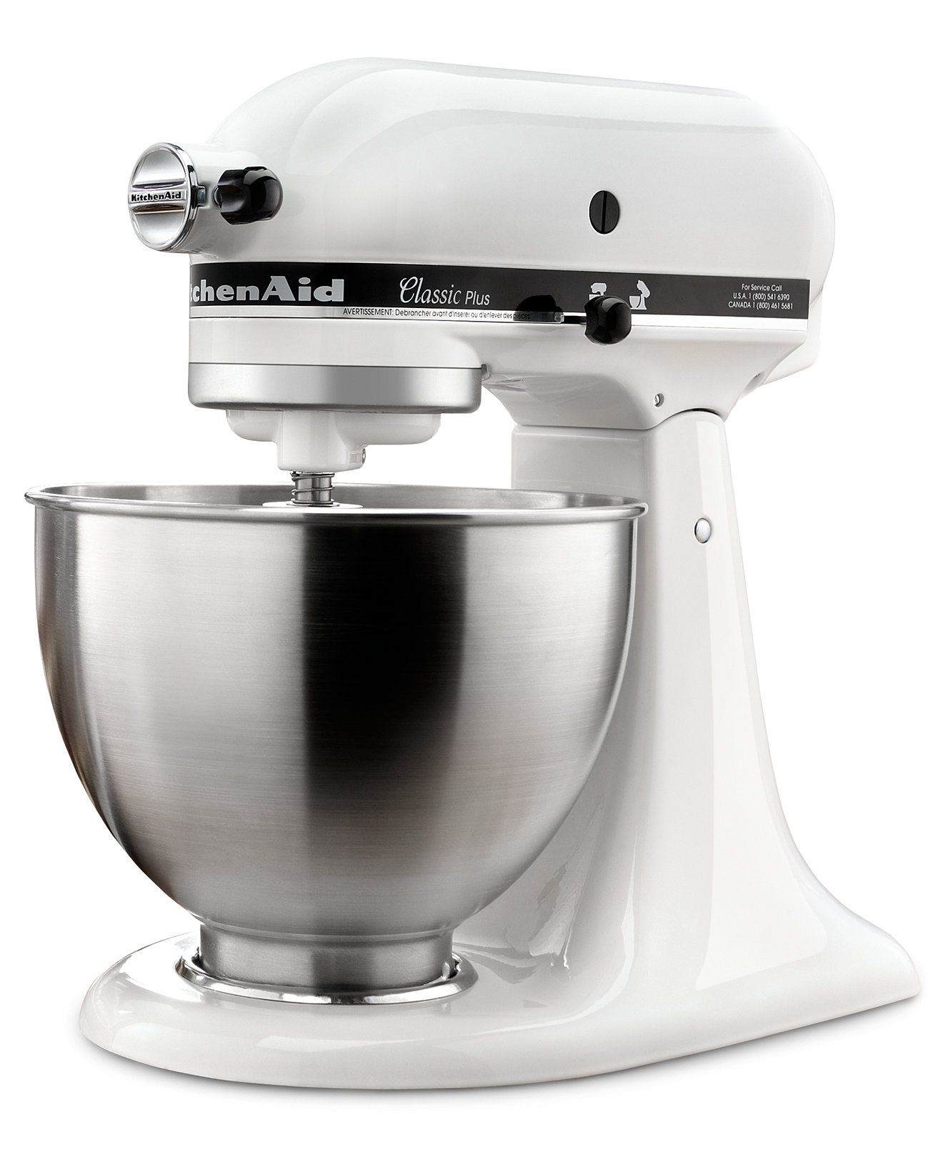 KitchenAid KSM75WH Classic Plus 4.5-Quart Tilt Head Stand Mixer - Electrics - Kitchen - Macy's