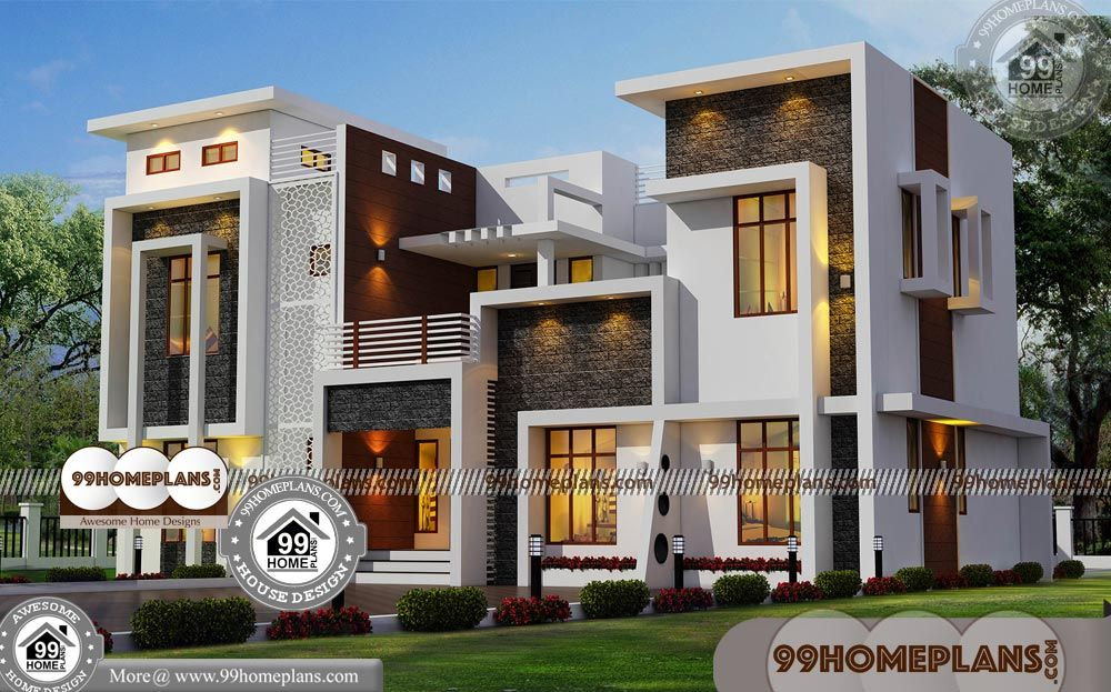 Square Two Story House Plans With Small House Designs And Floor Plans Having 2 Floor 5 Total B House Front Design Double Storey House Plans Small House Design