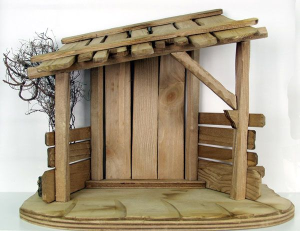 Beautiful Nativity Stable   Could Copy Out Of Scrap Wood
