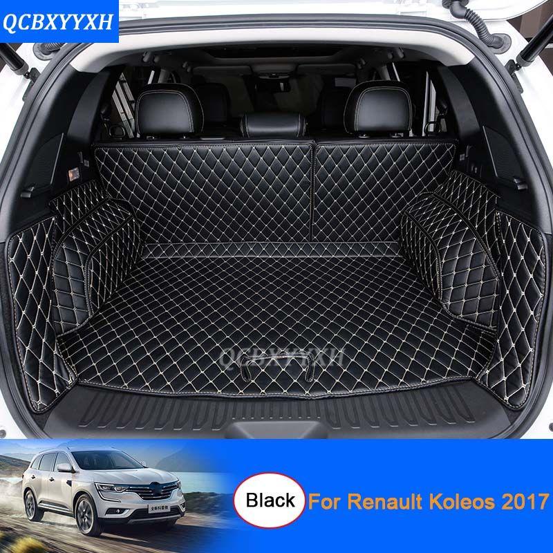 Car Floor Mat 3d Leather Car Styling All Leather Tray Carpet Cargo Liner Custom Fit Car Trunk Mat For Renault Koleos 2017 Carpet Car Bling Interior Fit Car Car