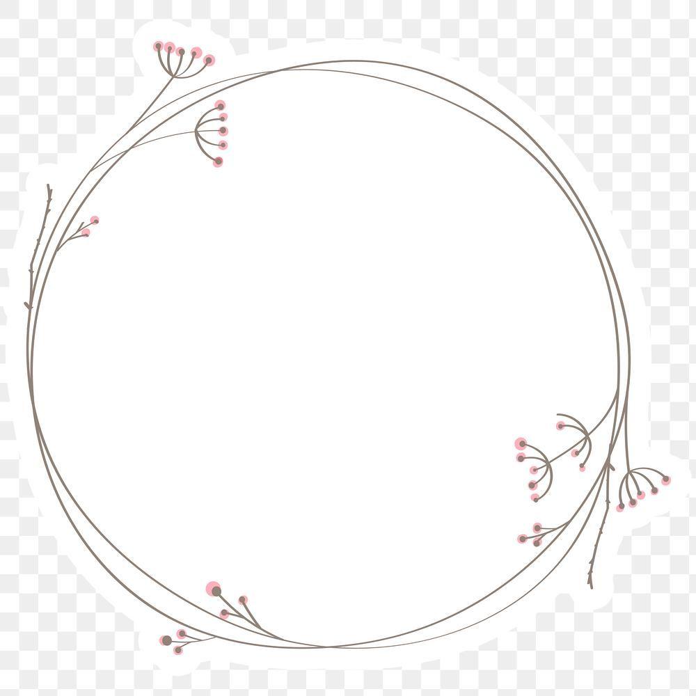 Leafy Doodle Frame Design Element Free Image By Rawpixel Com Wan Doodle Frame Circle Doodles Custom Portrait Illustration