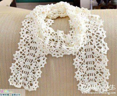 فولار كروشيه Crochet Scarf Crochet Scarves Crochet Clothes