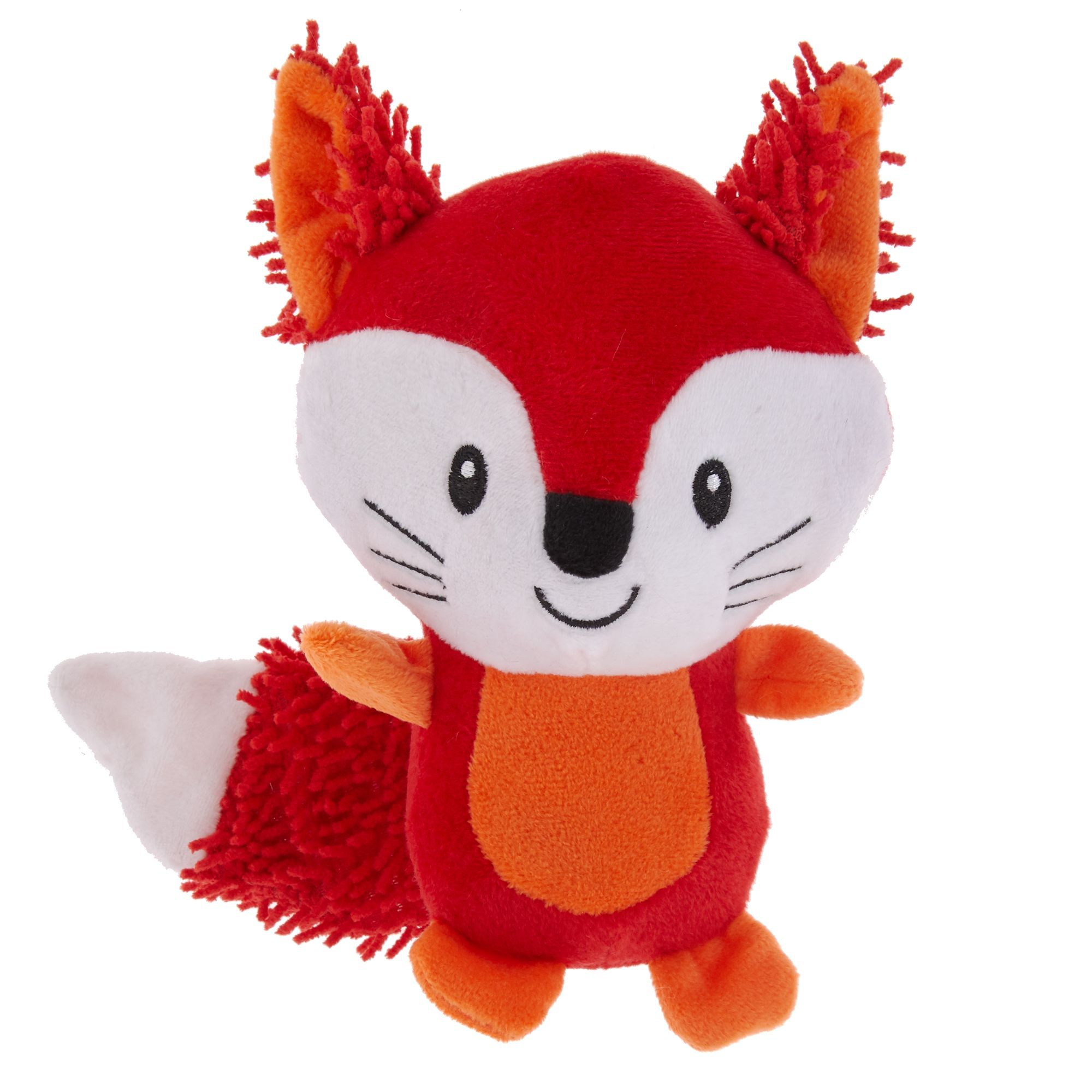 Grreat Choice Noodle Fox Dog Toy Plush Squeaker Dog Toys