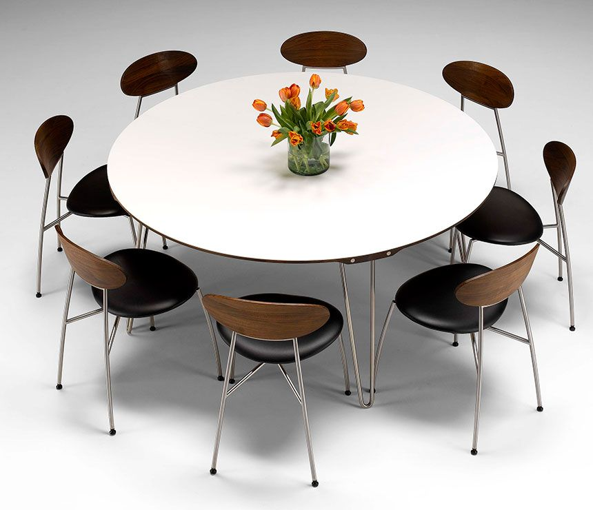 Delightful large round modern dining tables dining table for Contemporary round dining table