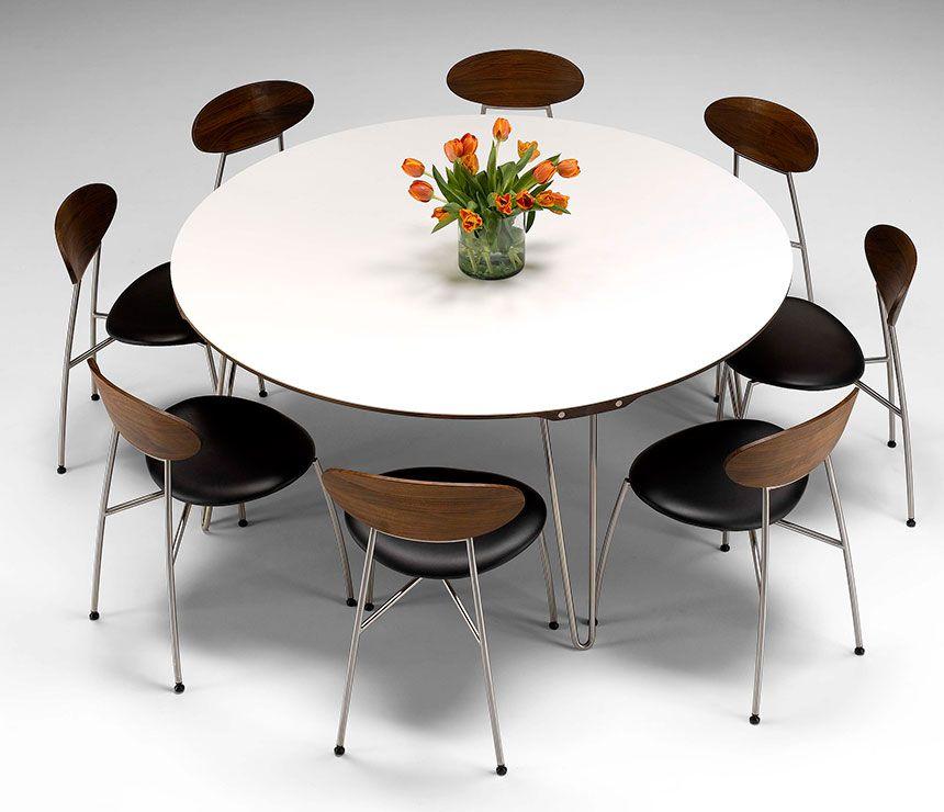 Dining Roomcute Modern Danish Corian Round Table Dm Modern Amazing Large Round Dining Room Tables Decorating Inspiration