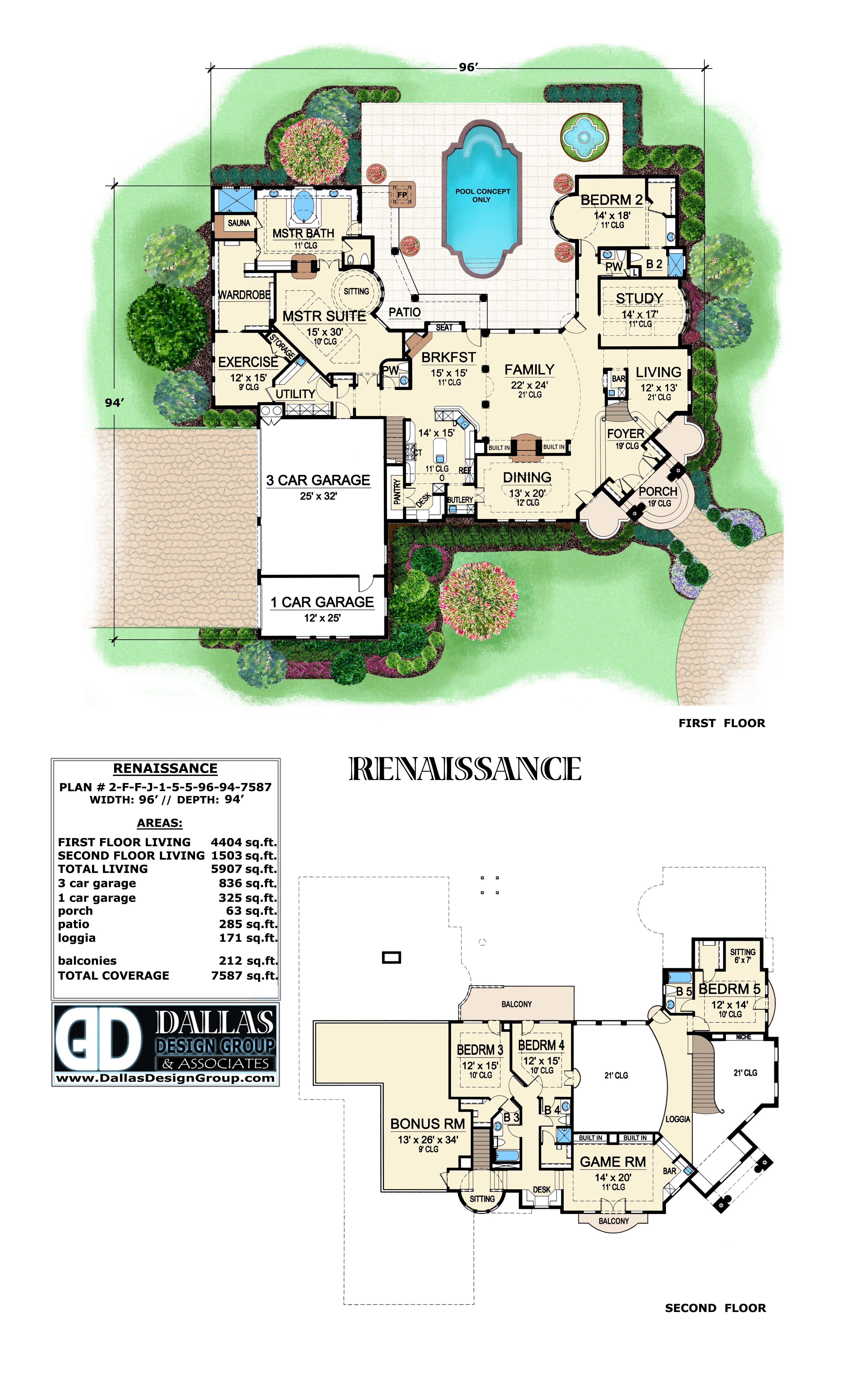 Renaissance Home Plan From Dallas Design Group A Parade