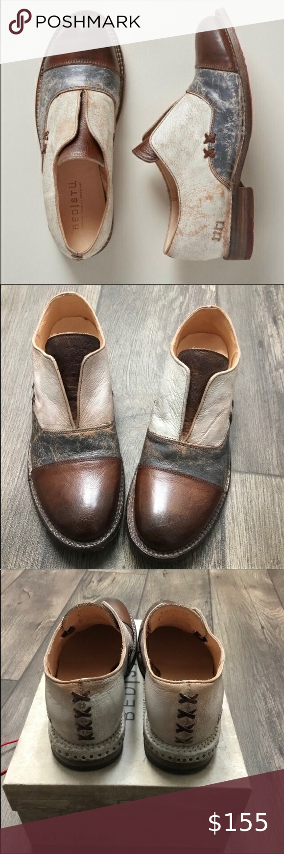 New Bed Stu Garden Leather Shoes Nwt In