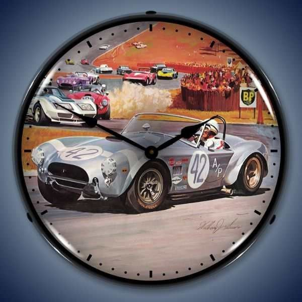 1968 Corvette Stingray Backlit Clock Corvette Clock Corvette Wall Clock Light