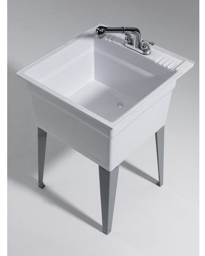Heavy Duty 23 75 X 25 25 Freestanding Laundry Sink With Faucet