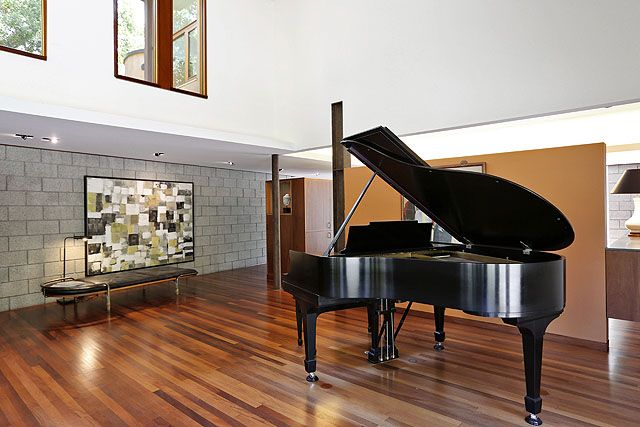 Grand piano in the living room.