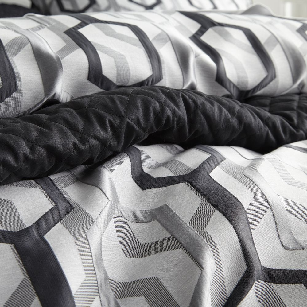 Davinci Fraser Pewter Quilt Cover Set | More Sizes Available by Private Collection & Davinci on THEHOME.COM.AU